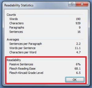 Readability Function